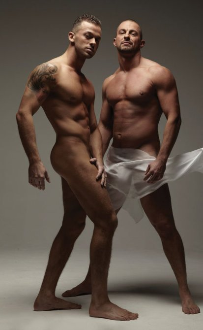 Robin and Artem Naked Cosmopolitan Centrefold Jan 2011